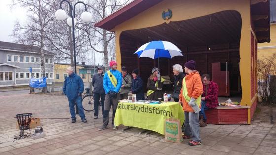 Naturskyddsföreningen på torget i Sveg.